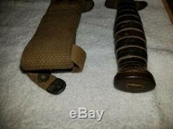 WW2 US M3 Trench Fighting Knife Imperial Blade Marked in M8 Dagger Airborne