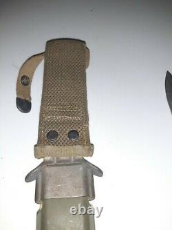WWII US M3 Imperial Trench Knife Dagger Blade Mark With USM8 Scabbard NICE LOOK