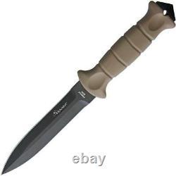 WildSteer Dague SAS 5.5 Dagger Tan Handle Fixed Blade Knife SAS3115