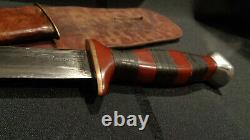 Wwii Ww2 Stiletto Fighting Knife. Large 8 D/e Dagger Blade. Theater-made